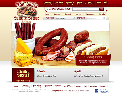 Johnson's Sausage Shoppe & Catering - Rio, WI