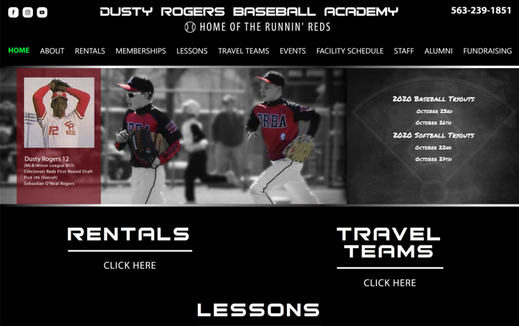 Dusty Rogers Baseball Academy - Dubuque, Iowa